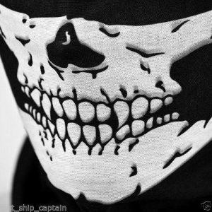 Máscaras Halloween Crânio Esqueleto Máscaras de Bicicleta Motocicleta Ao Ar Livre Multi Cap Neck Santo Scarf Metade Máscara Facial