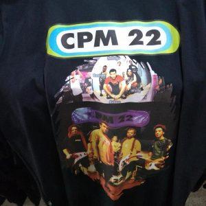 CAMISETA PRETA ROCK N ROLL CPM 22