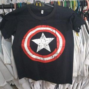 CAMISETA SUPER HEROIS CAPITÃO AMERICA