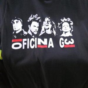 CAMISETA PRETA ROCK N ROLL OFICINA G3