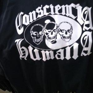 CAMISETA PRETA ROCK N ROLL CONSCIENCIA  HUMANA