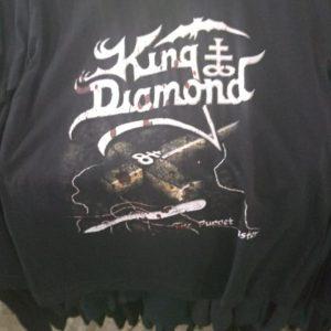 CAMISETA PRETA ROCK N ROLL KING DIAMOND