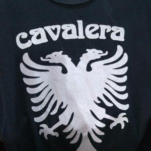 CAMISETA PRETA ROCK N ROLL CAVALERA