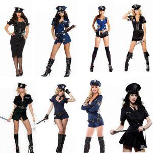 POLICIAL Novas Mulheres Quentes Uniforme Cop Sexy Sexy Policial Traje Clube Jogo Halloween Cosplay Trajes 300,00 FRETE GRATIS