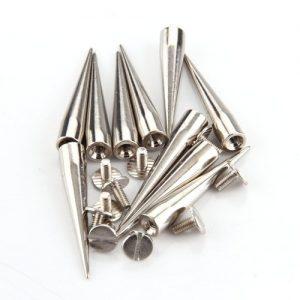 SPIK 10 conjunto parafuso de rebite bala de prata spike studs spots diy punk rock R$70,00 FRETE GRATIS