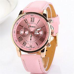 RELÓGIO FEMENINO 1 peça de três olhos mulheres relógios rosa banhado a ouro pu couro quartzo relógio de pulso  OLHA SÓ O PREÇO É BARATO DEMAIS,,, R$50,00  FRETE GRATIS..