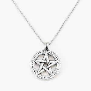 COLAR MEDALHA Pentagrama pentagrama pingente pentagrama colar de amuleto supernatural proteção de bruxa R$30,00 FRETE GRATIS