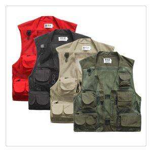 COLETE Homens Outdoor Multi-Bolso Vest Viajantes Fly Fishing Fotografia Quick-Dry Jacket R$250,00 FRETE GRATIS