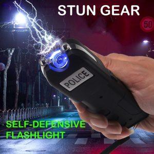 Choque Lanterna DEFESA Stun POLÍCIA Heavy Duty Recarregável com LED Lanterna Auto-Defesa Defenda-se Lanterna Elétrica Tazer  R$200,00  FRETE GRATIS