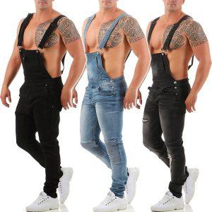 Macacões Moda Masculina Calças Jeans Compridas Denim Macacão Macacão Bib Pants  Selecionar Tamanho P M G XG XXG XXXG Selecionar Cor Azul Cinza Preto R$200,00 FRETE GRATIS