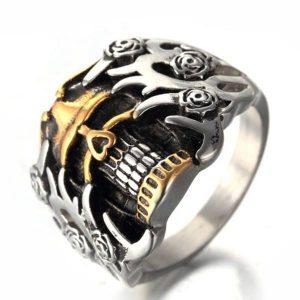 ANEL Aço inoxidável 316L Vintage gótico homens mulher Punk crânio anel jóias R$30,00 FRETE GRATIS