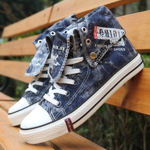 TENIS Homens Woemn sapatos de lona de camuflagem sapatos casuais dos homens Fshion (Tamanho35-44) R$160,00  FRETE GRATIS