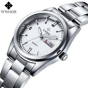 RELOGIO Moda Casual Relógio de Quartzo das Mulheres Data Dia de Aço Inoxidável À Prova D 'Água Ladies Dress Relógios Reloj Feminino Feminino Relógio R$200,00  FRETE GRATIS
