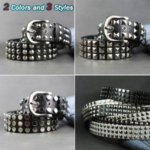 CINTO Estilo rebite homens jovens e mulheres estilo coreano PU Leather Rivet Belt Cintura R$160,00  FRETE GRATIS