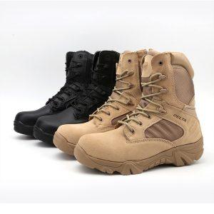 BOTA Delta Botas Táticas Militares Deserto De Couro Ao Ar Livre Botas de Combate Do Exército Caminhadas Sapatos de Viagem Botas Masculino  Tamanho: 5 6 7 8 9 10 R$200,00  FRETE GRATIS