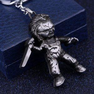 CHAVEIRO Filme clássico Noiva de Chucky Chaveiro 3D Killer boneca Coslay Pingente De Metal Chaveiro Moda Chaveiro Do Carro Para Os Homens Legal Acessório R$70,00  FRETE GRATIS