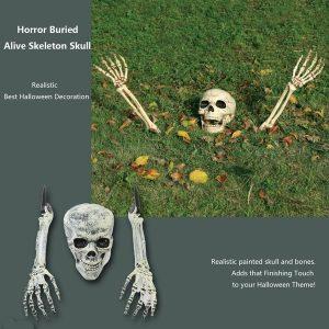 ESQUELETO 3 Peça Halloween Horror Enterrado Vivo Crânio Esqueleto Casa Jardim Quintal Gramado Decoração R$100,00 cada FRETE GRATIS