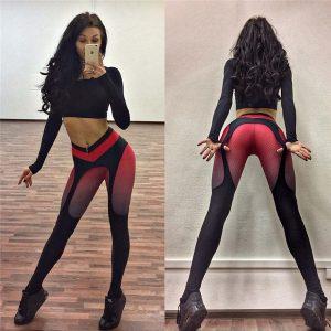 CALÇA Leggings de esportes das mulheres novas emendados calças de yoga impressão digital workout strassch leggings R$80,00  FRETE GRATIS