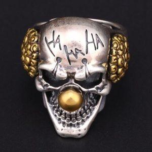 ANEL Homens aço inoxidável qualidade superior Design palhaços Biker Ring R$30,00  FRETE GRATIS