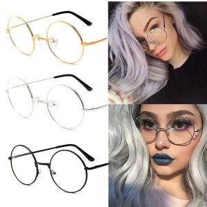 ÓCULOS NERDI Retro Vintage Círculo Redondo Armação De Metal Óculos Limpar Lens Eye Glasses Simples Espelho Óptico Óculos Frames R$30,00 FRETE GRATIS