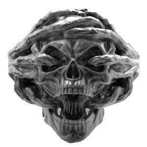 ANEL Aço inoxidável dos homens Neo-góticos 316L Aço Inoxidável Steam Locomotive Crânio Anel de Moda Do Partido Do Punk Biker Jóias Presente R$35,00  FRETE GRATIS