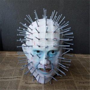 MASCARA SLIPNOT Halloween Máscara de Horror Hellraiser Pinhead Fantasma Máscara Assustadora Capacete Latex Cosplay R$200,00  FRETE GRATIS