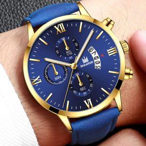 RELOGIO Moda de Luxo Homens Relógios De Quartzo Pulseira De Couro Roman Digital Dial Casual Calendário de Negócios de Quartzo Relógios Montre Homme Reloj Hombre R$30,00  FRETE GRATIS