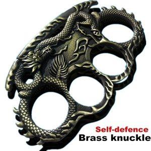 SOCO INGLES DEFESA Dragão Knuckle latão Homens Moda Anéis Ao Ar Livre Auto Defesa Anéis Conveniente EDC CR6 R$200,00  FRETE GRATIS