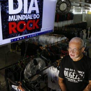 FELIZ DIA MUNDIAL DO ROCK Lojas de artigos para fãs que cativam público há mais de 30 anos comemoram Dia do Rock