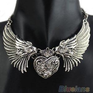 GARGANTILHA Hot Rhinestone Angel Wings Collar Cadeia Colares Vestidos Mulheres, Vestido, Colar Superior R$35,00 FRETE GRATIS  SITE aqui www.DUGEZZU.com.br boas compras