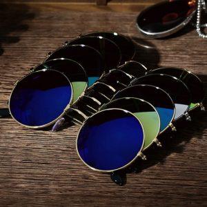 OCULOS REDONDO New Retro Piloto Rodada Óculos De Sol Das Mulheres Dos Homens de Designer Clássicos Do Vintage De Ouro Moldura De Metal Gradiente De Cor Lente R$35,00 FRETE GRATIS  SITE aqui www.DUGEZZU.com.br boas compras