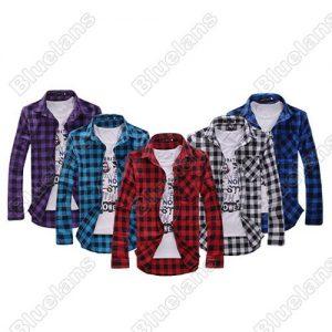 CAMISA Novos Homens Slim Fit Casual & Vestido Xadrez Camisa Estilo Coreano Azul Vermelho Preto R$160,00  FRETE GRATIS  CADASTRE-SE no SITE Www.DUGEZZU.Com.Br Boas Compras