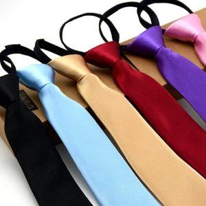 GRAVATA 5 CM * 45 CM Novo Clássico Verifica Jacquard Tecido de Gravata dos homens de Seda Gravata Festa de Casamento com zíper R$10,00