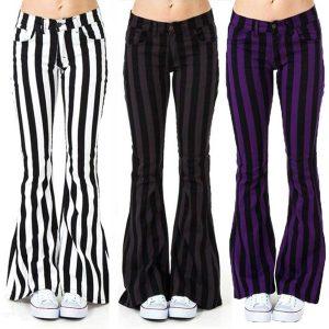 CALÇA Moda Feminina Flare Calça Jeans Ladies Sexy Wide Leg Listrado Calças Calças (S-5XL) R$140,00,00  FRETE GRATIS SITE aqui www.DUGEZZU.com.br boas compras