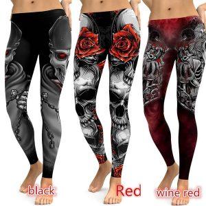 CALÇA Plus Size Estilo Punk Mulheres Leggings Crânio Alta Elastic Ginásio Moda Aptidão Leggings Calças de Yoga Esporte R$100,00  FRETE GRATIS SITE aqui www.DUGEZZU.com.br boas comprastes