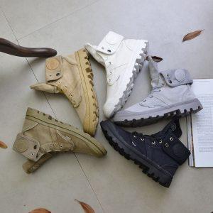 BOTA5 cores homens e mulheres botas estilo paládio moda de alta-top tornozelo militar sapatos de couro confortável sapato Oxford sapatos casuais R$130,00 FRETE GRATIS  SITE aqui www.DUGEZZU.com.br boas compras