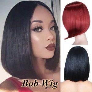 Peruca de cabelo humano curto perucas de cabelo humano bob peruca cheia e grossa cor natural para as mulheres R$60,00 FRETE GRATIS  SITE aqui www.DUGEZZU.com.br boas compras