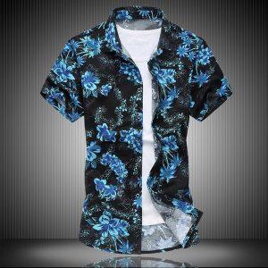 CAMISA Mens havaiano camisa masculina casual camisa masculina impressa praia camisas de manga curta marca clothing plus assista xs-4xl R$100,00  FRETE GRATIS SITE aqui www.DUGEZZU.com.br boas compras