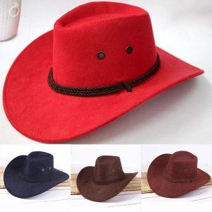 Chapéus de Cowboy para Mulheres Homens com Chapéus Mulheres Moda Inverno Chapéu de Cowboy Ocidental Camurça Do Falso R$100,00  FRETE GRATIS  SITE Aqui Www.DUGEZZU.Com.Br Boas Compras