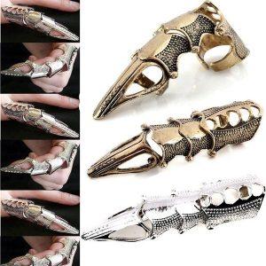 ANEL ARTICULADO Cavaleiro do punk crânio Knuckle Armadura Full Finger Ring Gothic Ghost Rings R$35,00 FRETE GRATIS  SITE aqui www.DUGEZZU.com.br boas compras