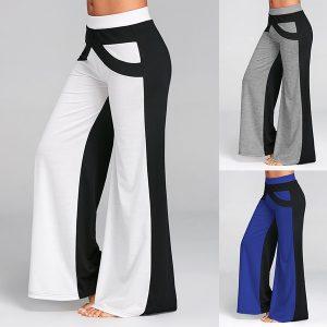 CALÇA Mulheres Sexy Moda Casual Cintura Alta Alargamento Perna Larga Calças Compridas Palazzo Calças R$120,00  FRETE GRATIS SITE aqui www.DUGEZZU.com.br boas compras