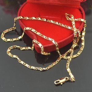 """CORRENTE Requintado ouro genuíno 18k cheio colar de corrente de ouro 16-30 """" R$35,00  FRETE GRATIS  SITE aqui www.DUGEZZU.com.br boas compras"""