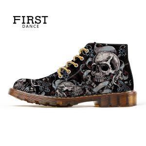 BOTA PRIMEIRA DANÇA de Sapatos para Homens Sapatos de Crânio Esqueleto Crânio Impressão Sapatos Pretos para homens Quente Ankle Boot Moda Homem Oxfords Botas de Inverno Homens Presentes R$240,00  FRETE GRATIS SITE aqui www.DUGEZZU.com.br boas comprastes