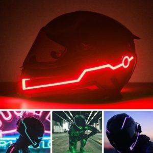 Capacete fresco da motocicleta da forma luz fria do capacete da luz listrada do capacete com o cinto leve da noite do capacete da locomotiva (os capacetes não são incluídos) R$140,00  FRETE GRATIS  SITE aqui www.DUGEZZU.com.br boas compras
