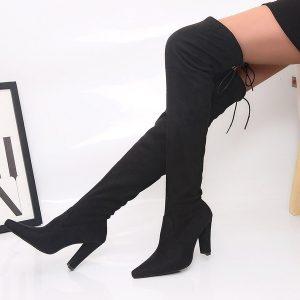 BOTA Tecido Elstico Sobre Joelho Botas Sapatos de Salto Grosso Mulheres De Longo Primavera R$170,00 FRETE GRATIS  SITE aqui www.DUGEZZU.com.br boas compras