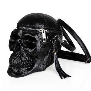 BOLSA Personalidade das Mulheres criativas Engraçado Saco de Ombro Do Crânio Moda 3D Preto Silicone Zipper Bolsa Portátil R$150,00 FRETE GRATIS  SITE aqui www.DUGEZZU.com.br boas compras