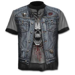 CAMISETA Homens s 3D Gráfico Crânio Impresso Camiseta Verão Moda Casual Algodão de Manga Curta O Pescoço Tops R$55,00  FRETE GRATIS SITE aqui www.DUGEZZU.com.br boas comprastes