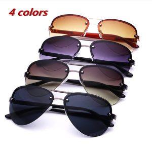 Óculos de sol de proteção UV 400 Óculos de sol sem aro Óculos de personalidade elegante Óculos de sol polarizados Óculos de sol de condução dos homens R$35,00 FRETE GRATIS  SITE aqui www.DUGEZZU.com.br boas compras