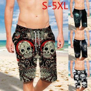 BERMUDA Plus Size Moda Masculina Lace Up 3D Açúcar Crânio Impressão Shorts para Homens Calções de Praia Shorts de Natação R$70,00 FRETE GRATIS  SITE aqui www.DUGEZZU.com.br boas compras