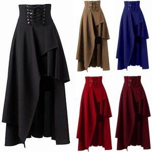 SAIA As mulheres se vestem steampunk partido rocha vintage preto lolita cigana vitoriano do punk do vintage goth hip saia legal moda rock saia R$80,00  FRETE GRATIS  SITE Aqui Www.DUGEZZU.Com.Br Boas Compras